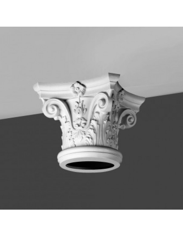 Exterior: Striking Polyurethane Column Capital K1122